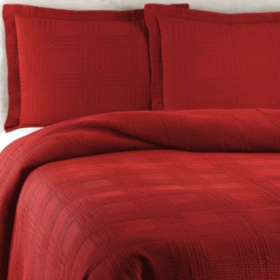 Traditions Linens Farrah Standard Pillow Sham in Red