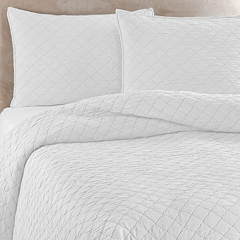 Traditions Linens Louisa Coverlet In White Bed Bath Amp Beyond