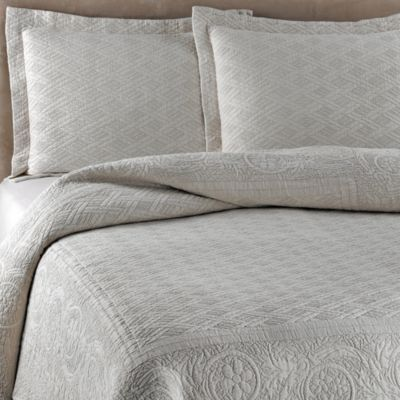 Traditions Linens Palmer Linen Coverlet