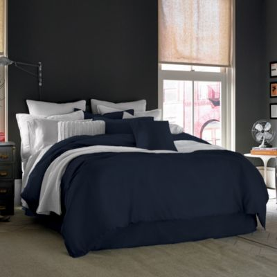 Kenneth Cole Reaction Home Mineral Full/Queen Duvet Cover in Indigo