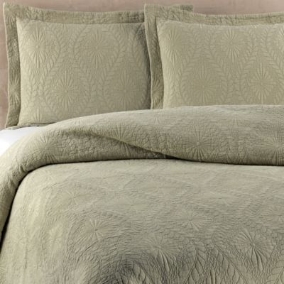 Traditions Linens Suzi Twin Coverlet in Sage
