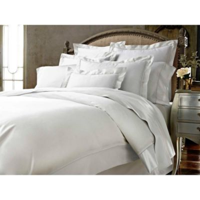 Kassatex Vicenza Queen Duvet Cover in White/Ash