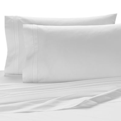 Kassatex San Marino Italian-Made Queen Fitted Sheet in White