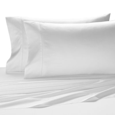 Kassatex Vicenza Queen Flat Sheet in White
