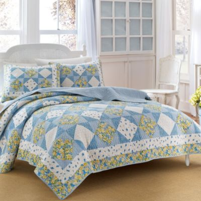 Laura Ashley® Grace Reversible Twin Quilt