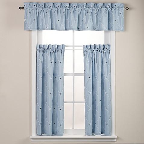 Wellington Bath Window Curtain Tier In Blue