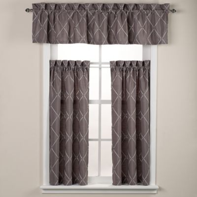 Wellington Window Valance in Grey