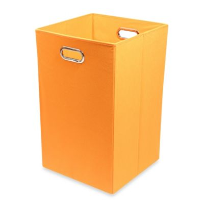 Modern Littles Smarty Pants Solid Folding Laundry Basket in Orange