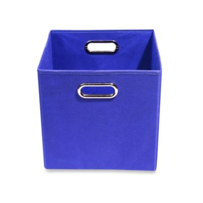 Modern Littles Folding Storage Bin in Solid Blue