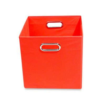Modern Littles Bold Folding Storage Bin in Solid Red