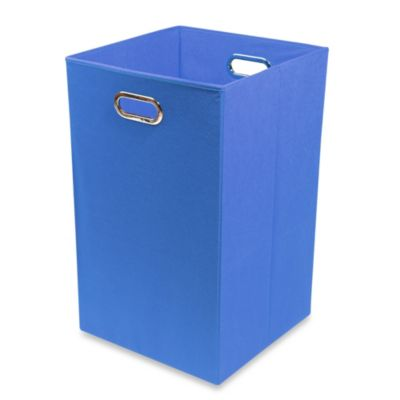 Modern Littles Smarty Pants Solid Folding Laundry Basket in Blue