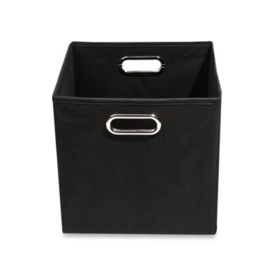 Modern Littles Smarty Pants Solid Black Folding Storage Bin