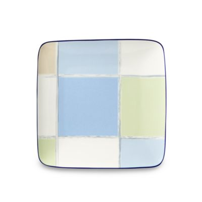 Java Blue 7 1/2-Inch Square Accent Plate