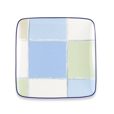 Java Blue 10 1/4-Inch Square Plate