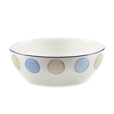 Java Blue 96-Ounce Round Vegetable Bowl