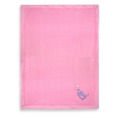 Just Born® Valboa Bird Applique Blanket in Pink