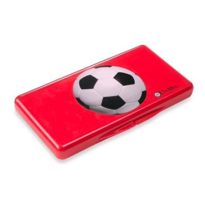 Uber Mom Wipebox in Red Soccer Ball