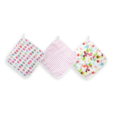 aden™ by aden + anais® for Zutano 3-Pack Washcloth in Walk in the Park