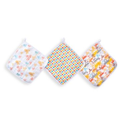 aden™ by aden + anais® for Zutano 3-Pack Washcloth in Sunday Drive
