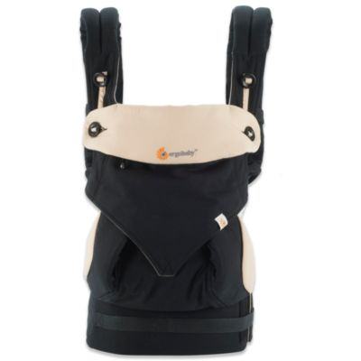 Four-Position 360 Baby Carrier in Black/Camel
