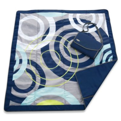 JJ Cole® 5-Foot x 7-Foot All-Purpose Outdoor Blanket in Blue Orbit