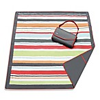 JJ Cole® Large Outdoor Blanket in Grey/Red Stripe
