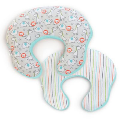 Comfort & Harmony's mombo™ Covered Nursing Pillow in Safari 'n Stripes™