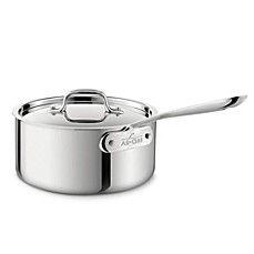 All-Clad Stainless Steel 3.5-Quart Saucepan with Lid
