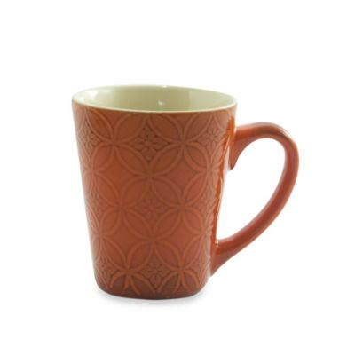 222 Fifth Zellige 13-Ounce Mug in Orange