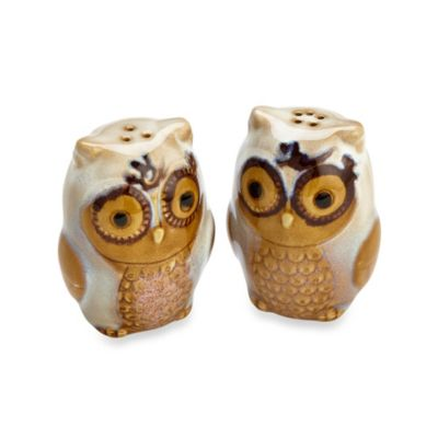 Natures Owl Salt and Pepper in Cream