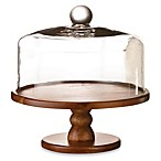 Madera Pedestal Cake Plate with Glass Dome
