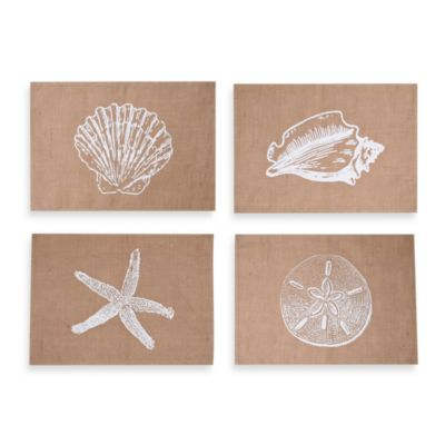 Thro Assorted Coastal Jute Placemats (Set of 4)