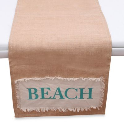 Beach Applique Jute Runner