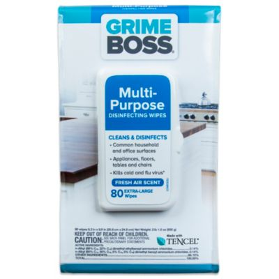 Grime Boss® 80-Count Multi-Purpose Disinfecting Wipes