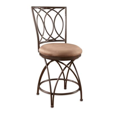 Powell Big and Tall Metal Crossed Legs Barstool