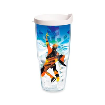 Tervis® Winter Sports Ice Skating 24-Ounce Wrap Tumbler with White Lid