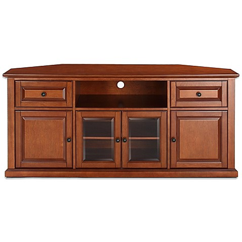 buy crosley 60 inch tv stand in classic cherry from bed bath beyond. Black Bedroom Furniture Sets. Home Design Ideas