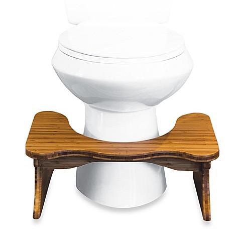 Squatty Potty Tao Bamboo 7 Inch Toilet Stool Bed Bath