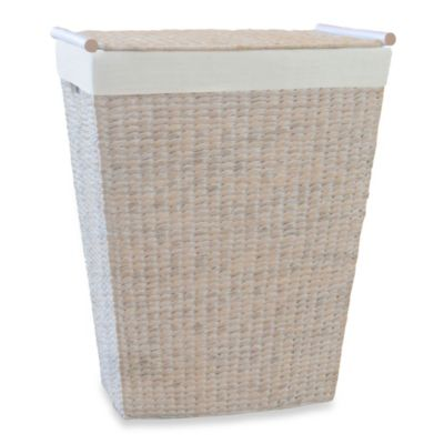 Lamont Home™ Makatea Bowfront Hamper in White