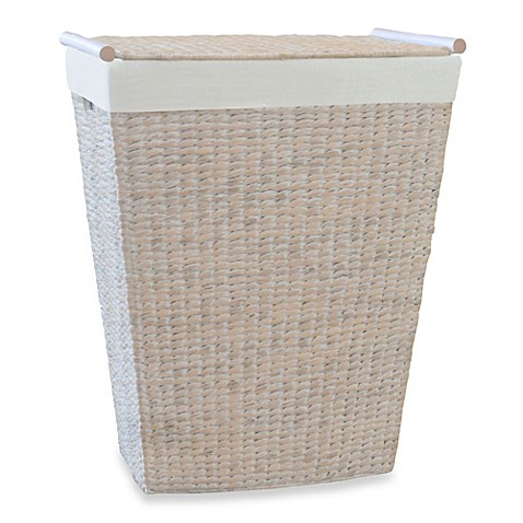 Buy Lamont Home Makatea Bowfront Hamper In White From Bed