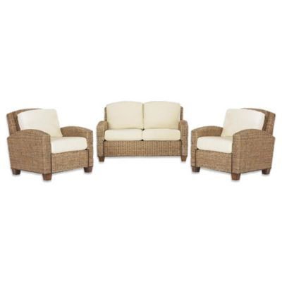 Home Styles Cabana Banana Love Seat and Two Chairs