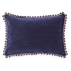 Vera Wang Gossamer Floral Breakfast Oblong Toss Pillow in Indigo