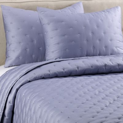 Vera Wang Gossamer Floral Quilted Pillow Sham in Blue