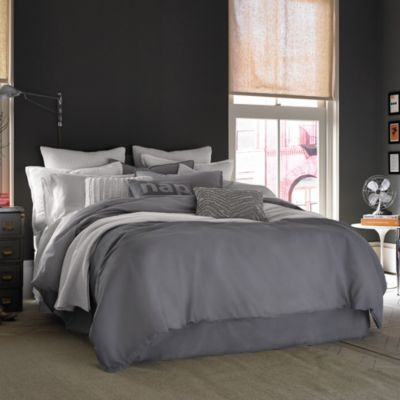 Kenneth Cole Reaction Home Mineral Twin Duvet Cover in Gunmetal