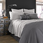 Kenneth Cole Reaction Home Mineral Waffle Weave Coverlet in Gunmetal