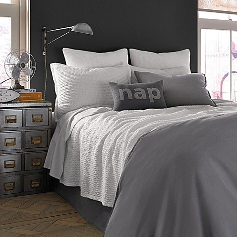 Kenneth Cole Reaction Home Mineral Waffle Weave Coverlet