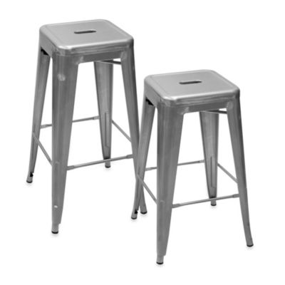 Ampersand® 30-Inch Galvanized Cafe Stool