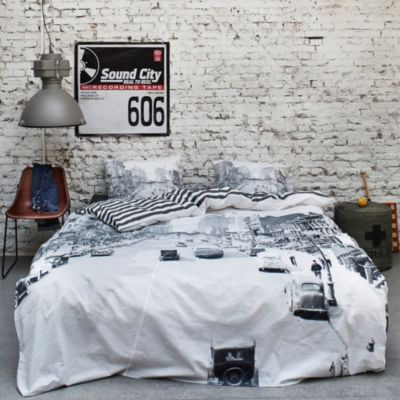 Streets Reversible Twin Duvet Cover Set