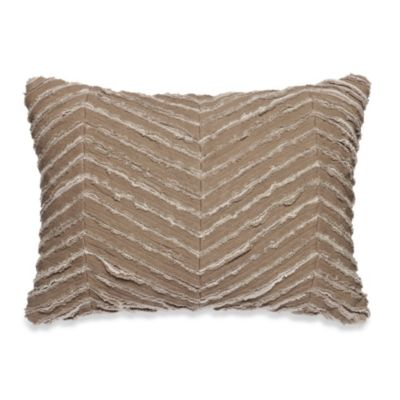 Kenneth Cole Reaction Home Mineral Raw Edge Oblong Toss Pillow in Oatmeal