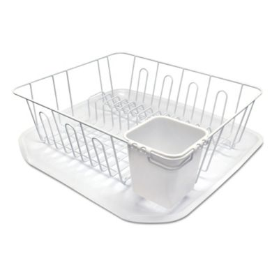Small Dish Rack in White